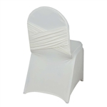 Madrid Banquet Chair Cover - Ivory