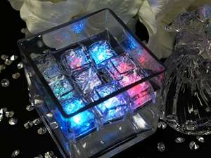 SPECIAL Self-On Submersible LED Ice Cubes 12/pk  Assorted