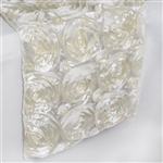 Grandiose Rosette Table Runners – Ivory