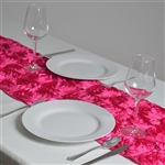Grandiose Rosette Table Runners – Fushia