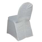 Milan Banquet Chair Covers - Ivory