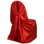 Universal Satin Chair Cover - Red