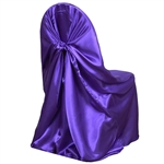 Universal Satin Chair Cover - Purple