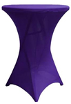 Cocktail Spandex Table Cover - Purple