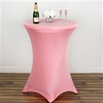 Cocktail Spandex Table Cover - Rose Quartz