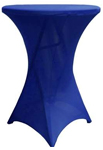 Cocktail Spandex Table Cover - Royal Blue