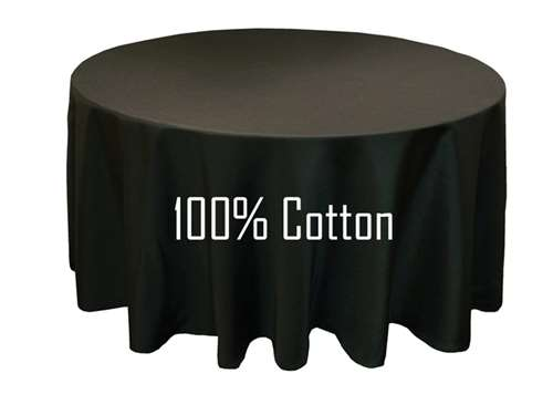 Cotton Tablecloth Black 90 Round