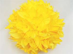 4 x ALWAYS CLOUD 9 Kissing Balls - Yellow Dahlias