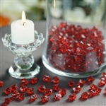 Mini Acrylic Ice Bead Vase Fillers Table Decoration - 400 Pack - Burgundy