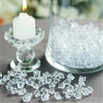 Mini Acrylic Ice Bead Vase Fillers Table Decoration - 400 Pack - Clear