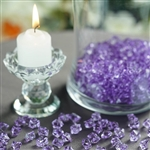 Mini Acrylic Ice Bead Vase Fillers Table Decoration - 400 Pack - Lavender