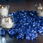 Mini Acrylic Ice Bead Vase Fillers Table Decoration - 400 Pack - Ocean Blue