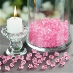 Mini Acrylic Ice Bead Vase Fillers Table Decoration - 400 Pack - Pink
