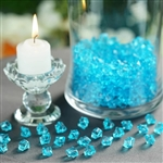 Mini Acrylic Ice Bead Vase Fillers Table Decoration - 400 Pack - Turquoise