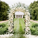 "Decorative Metal Arch 55"" Wide and 90"" Height for Wedding Party in White"