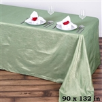Apple Green Crinkle Taffeta Tablecloth 90x132""