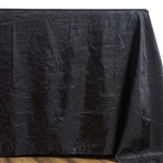 Black Crinkle Taffeta Tablecloth 90x132""