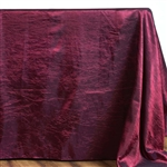 Burgundy Crinkle Taffeta Tablecloth 90x132""