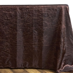 Chocolate Crinkle Taffeta Tablecloth 90x132""
