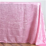 Pink Crinkle Taffeta Tablecloth 90x132""