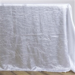 White Crinkle Taffeta Tablecloth 90x132""