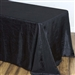 Black Crinkle Taffeta Tablecloth 90x156""