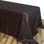 Chocolate Crinkle Taffeta Tablecloth 90x156""
