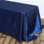 Navy Crinkle Taffeta Tablecloth 90x156""
