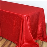 Red Crinkle Taffeta Tablecloth 90x156""