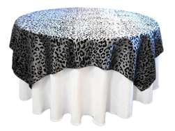 "72"" Overlay (Leopard) - Black / Silver"
