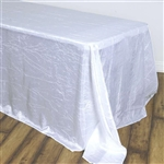 White Crinkle Taffeta Tablecloth 90x156""