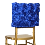 Grandiose Rosette Chair Caps (Square-Top) – Royal Blue