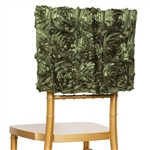 Grandiose Rosette Chair Caps (Square-Top) – Willow Green