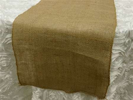 Authentic Rustic Burlap Runner – Natural color