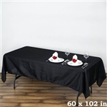 Econoline Black Tablecloth 60x102""