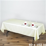 Econoline Ivory Tablecloth 60x102""