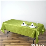 Apple Green Crinkle Taffeta Tablecloth 60x102""