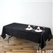 Black Crinkle Taffeta Tablecloth 60x102""