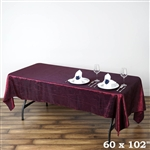 Burgundy Crinkle Taffeta Tablecloth 60x102""