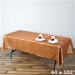 Gold Crinkle Taffeta Tablecloth 60x102""