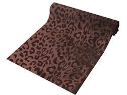 "Leopard Spots Fabric Bolt 54"" x 10Yards - Chocolate / Chocolate"