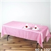 Pink Crinkle Taffeta Tablecloth 60x102""