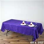 Purple Crinkle Taffeta Tablecloth 60x102""