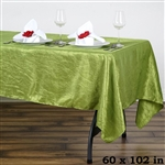 Sage Crinkle Taffeta Tablecloth 60x102""