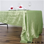 Apple Green Crinkle Taffeta Tablecloth 60x126""