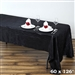 Black Crinkle Taffeta Tablecloth 60x126""