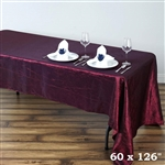 Burgundy Crinkle Taffeta Tablecloth 60x126""
