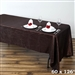 Chocolate Crinkle Taffeta Tablecloth 60x126""