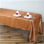 Gold Crinkle Taffeta Tablecloth 60x126""