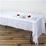 White Crinkle Taffeta Tablecloth 60x126""
